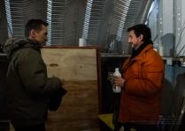 Actor Elvis Stojko and Director Lee Foster having fun behind the scenes!