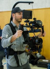 Director of Photography Bryan Piggott manning the equipment!