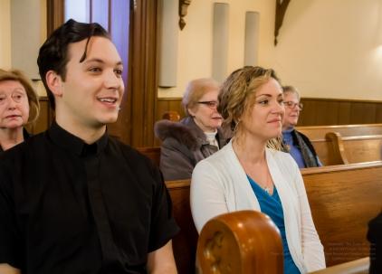 Actors Damien Doepping and Sarah McIntyre as Karl and Clara Lange!