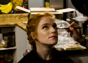 Actress Paige Foskett in Make-up Artist Jocelyn Santos' make-up chair!