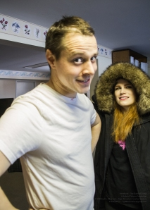 Actors Liam Murphy and Paige Foskett!
