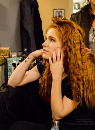 Actress Paige Foskett having her hair done by Make-Up Artist Jocelyn Santos!