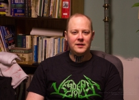 Ted Paulsen as a cretin, wearing Canadian metal pros Vesperia!