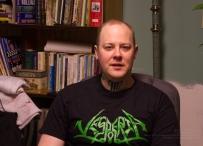 Ted Paulsen as a cretin, wearing Canadian metal pros Vesperia!
