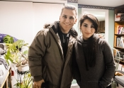 Make-Up Artist Jocelyn Santos with Actor Elvis Stojko!