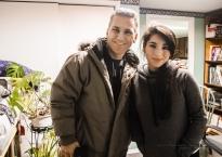 Make-Up Artist Jocelyn Santos with Actor Elvis Stojko!